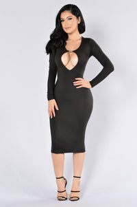 Play With Fire Dress - Black Angle 1