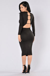 Play With Fire Dress - Black Angle 2