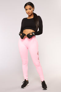 Runnin Around Seamless Active Leggings - Pink
