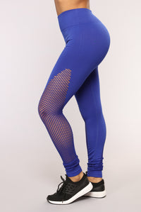 Lift It Seamless Active Leggings - Royal Angle 1