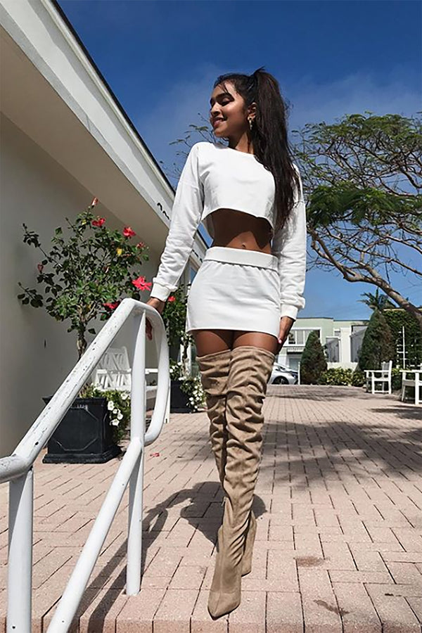 ce48377ee30 Vicky Over The Knee Boot - Taupe