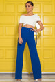 Victoria High Waisted Dress Pants - Royal