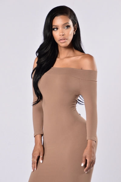 All Curves Mini Dress - Taupe