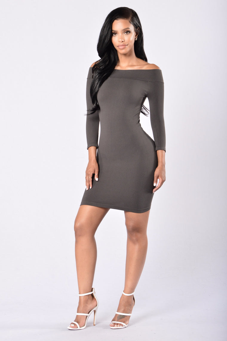 All Curves Mini Dress - Charcoal