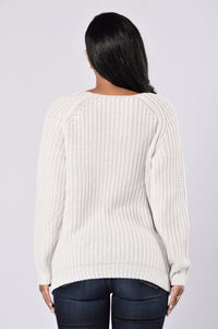 All Tore Up Sweater - Light Grey