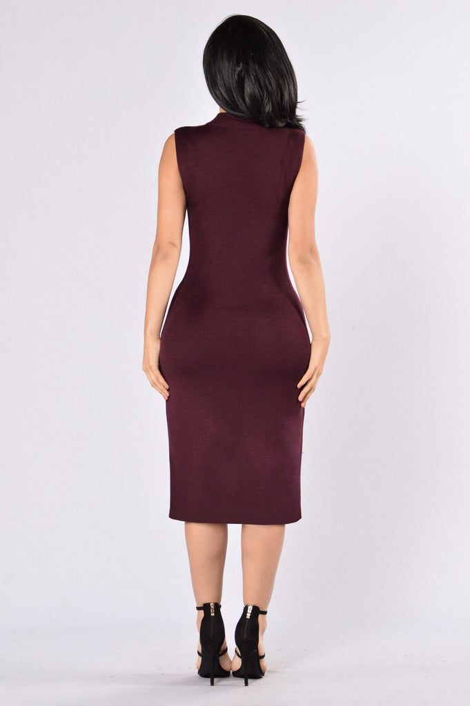 As Long As You Love Me Dress - Burgundy