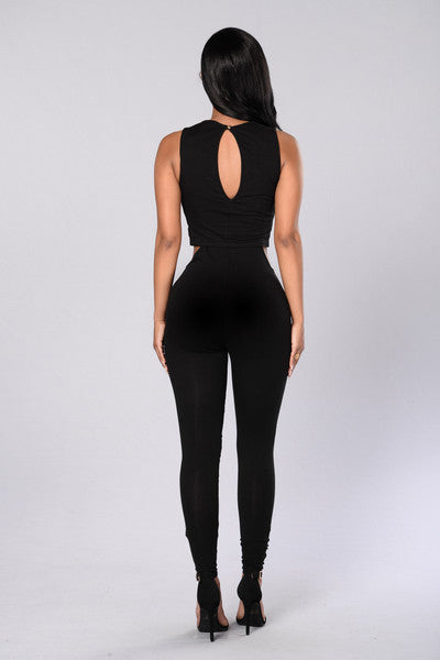 Side Piece Jumpsuit - Black