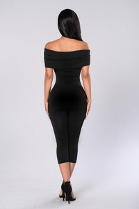 On and Off Jumpsuit - Black Angle 2