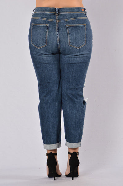 Benny Boyfriend Jeans - Medium Wash