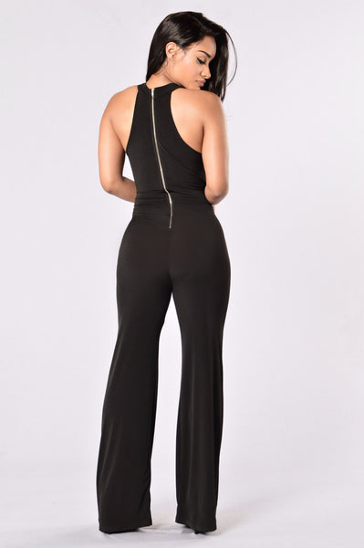 Disco Diva Jumpsuit - Black