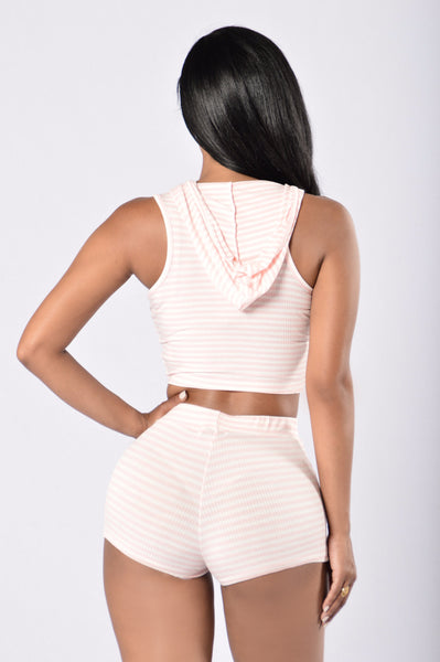 Bring It On Again Top - Blush/White