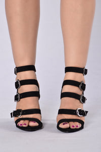 Raging Buckle Heel - Black
