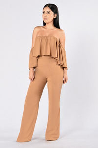 Going Through Changes Jumpsuit - Camel