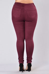 Canopy Jeans - Burgundy Angle 15