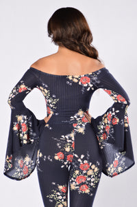 Charmed Top - Navy
