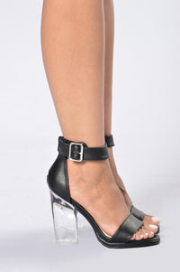 Clearly Stunning Heel - Black Angle 3