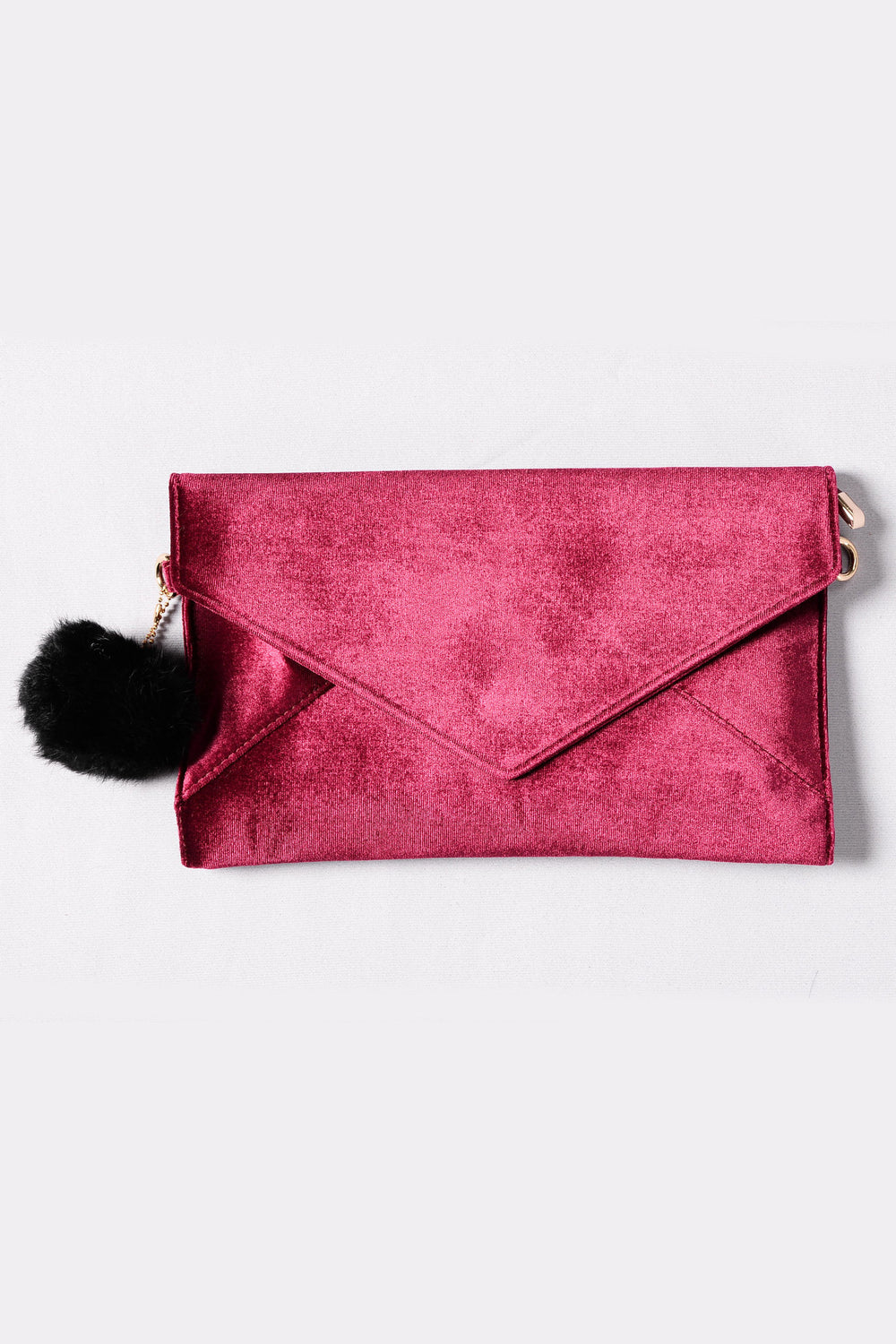Sealed With A Kiss Clutch - Burgundy