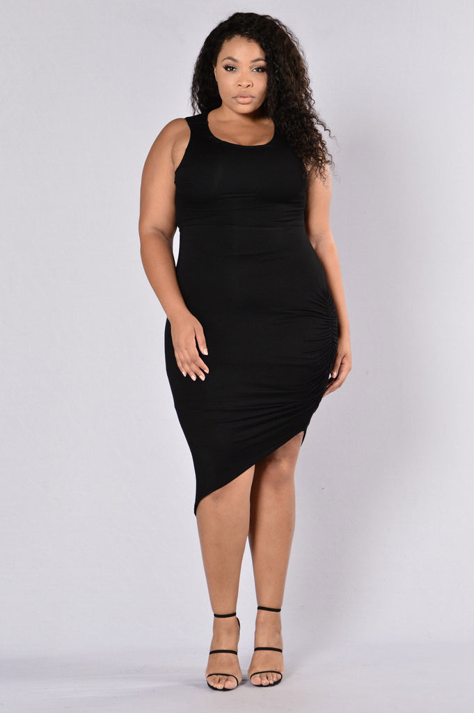 Cross It Off Dress - Black