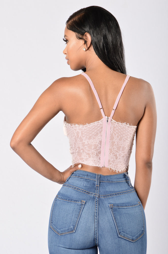 Cutie Pie Crop Top - Blush