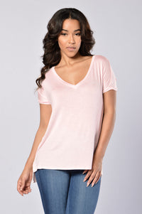 Day in Day Out Tee - Light Pink Angle 1