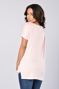 Day in Day Out Tee - Light Pink Angle 2
