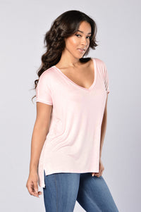 Day in Day Out Tee - Light Pink Angle 3