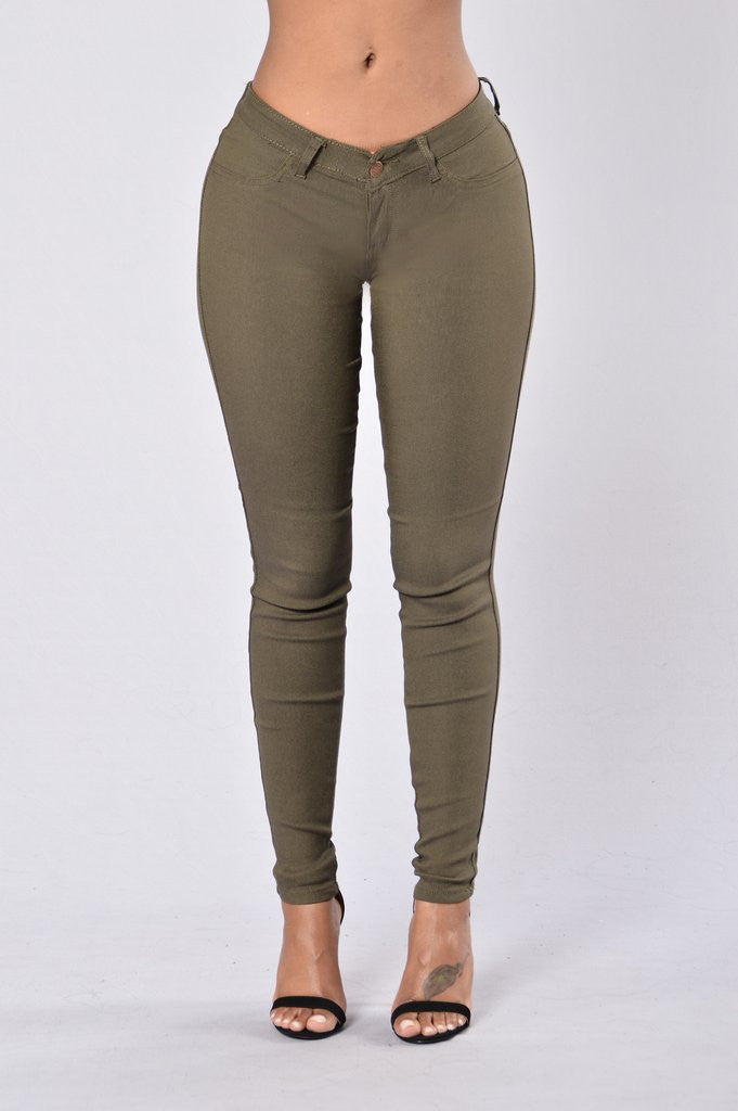 Easy Fit Jeans - Olive