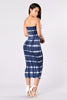 Eva Dress - Navy Tie Dye