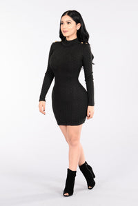 Rain On Me Dress - Black