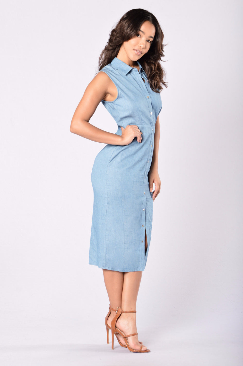 Feeling Blue Dress - Denim