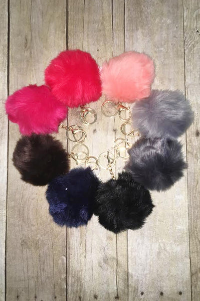 Fuzz Key Chain (all colors)