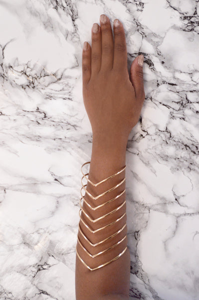 Get To The Point Cuff Bracelet - Gold