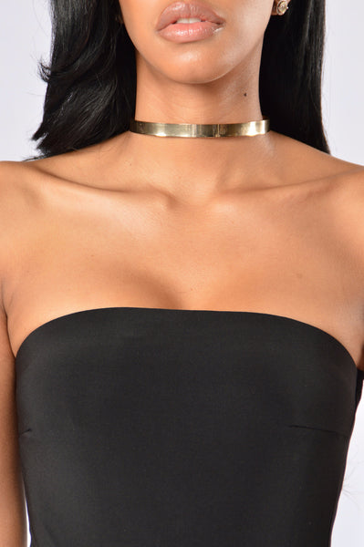 Bad Girls Club Choker - Gold