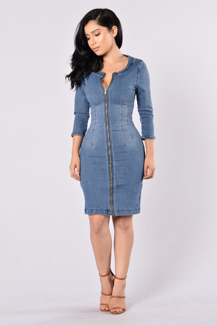 Heritage Denim Dress - Medium Wash