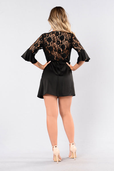 Lace You To It Dress - Black
