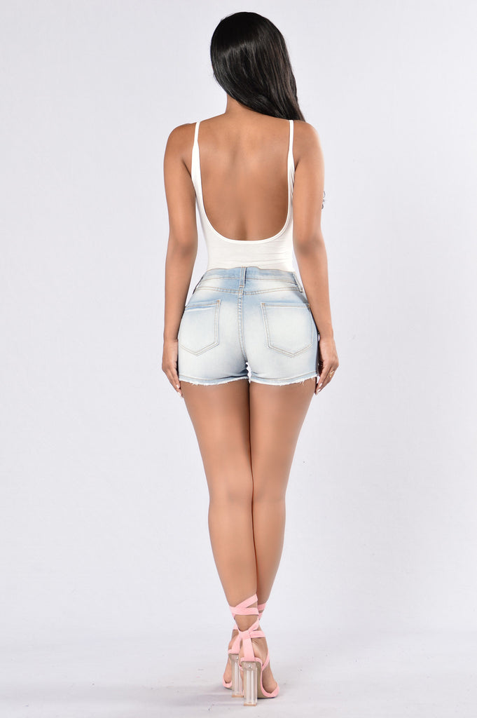 Hottest Shorty Shorts - Light Blue