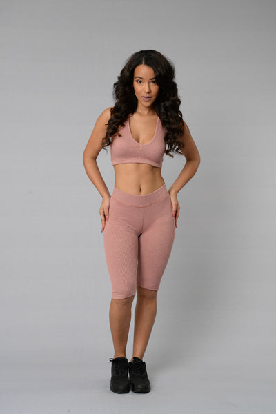 Bryant Crop Legging - Blush