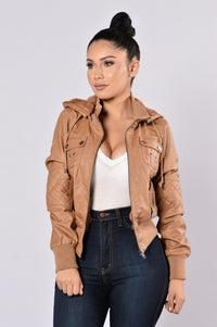 Steal Your Heart Jacket - Camel Angle 2