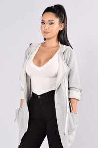 Just For The Season Jacket - Grey