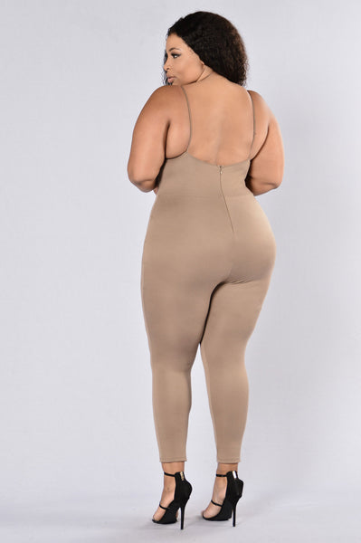 Jump To It Jumpsuit - Mocha