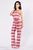 Jump Through Jumpsuit - Burgundy