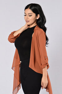 Light As A Feather Jacket - Terracotta