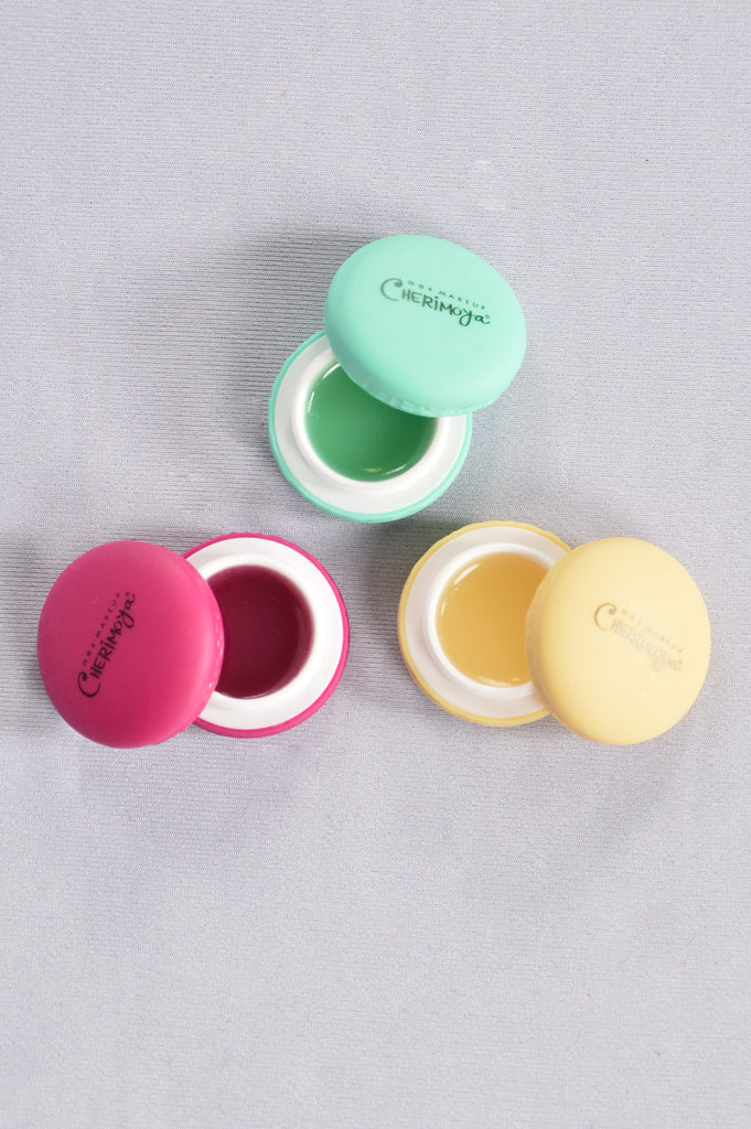 Sweetest Kiss Macaron Lip Balm Set - Pink