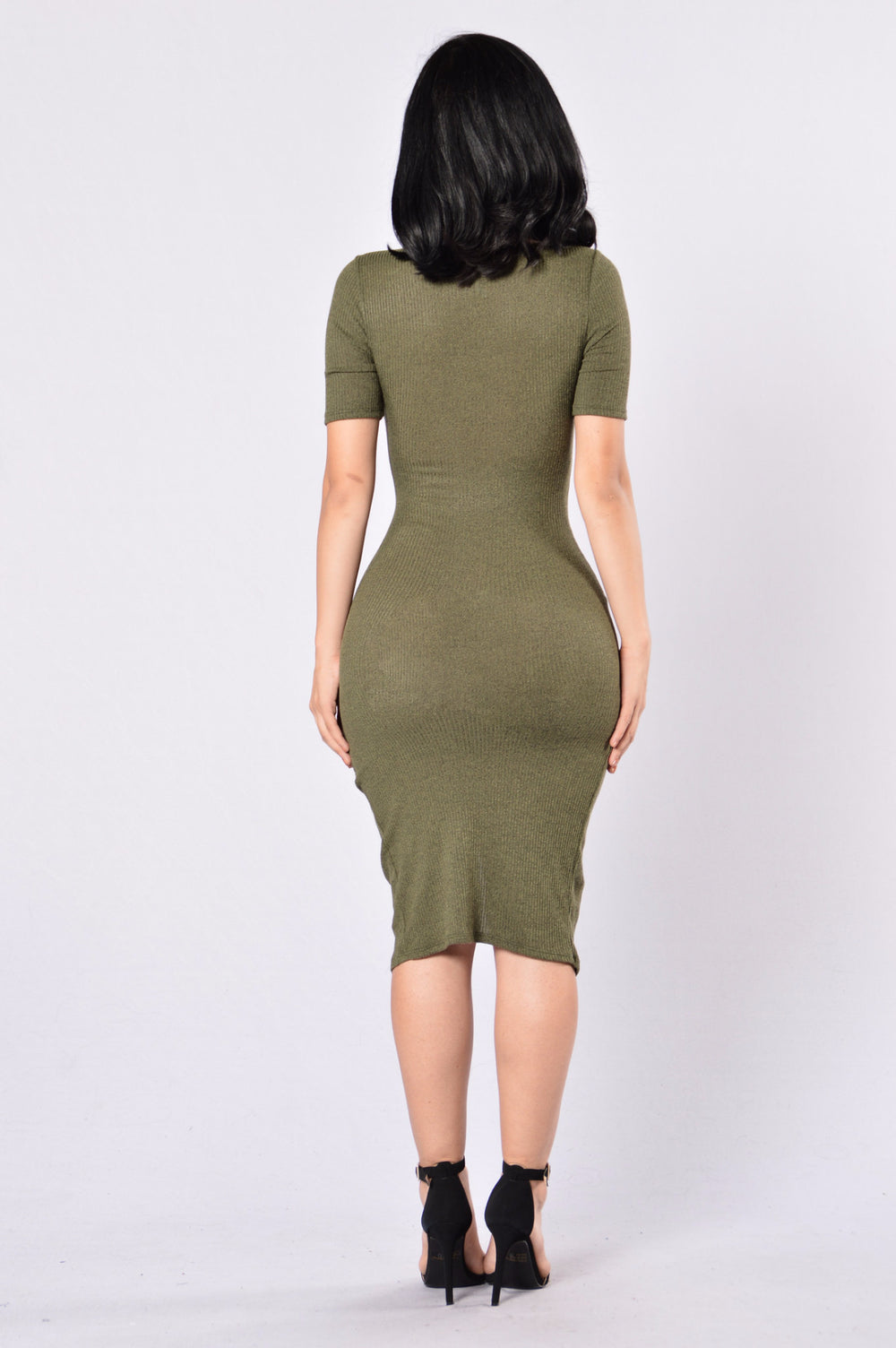 Living In The Fast Lane Dress - Olive
