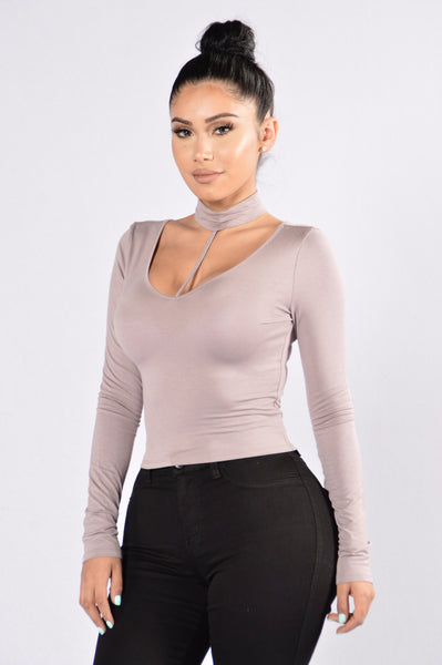 Love Harness Top - Purple Grey