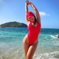 Catalina Island Swimsuit - Red