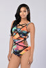 Miami Vice Bodysuit - Red Multi