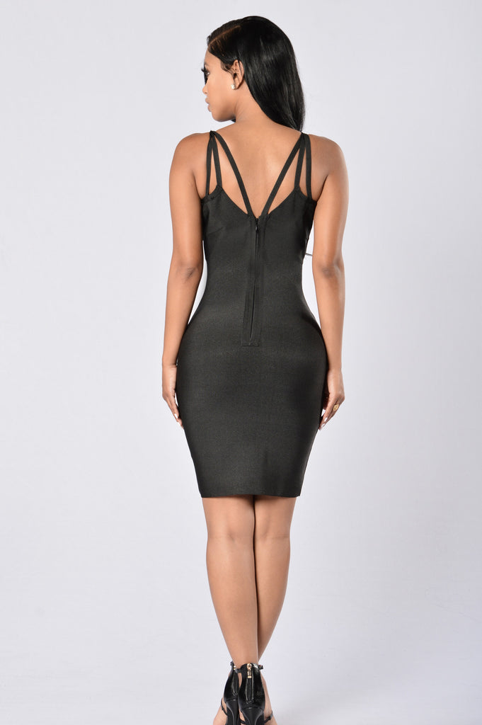 Mixed Emotions Bandage Dress - Black