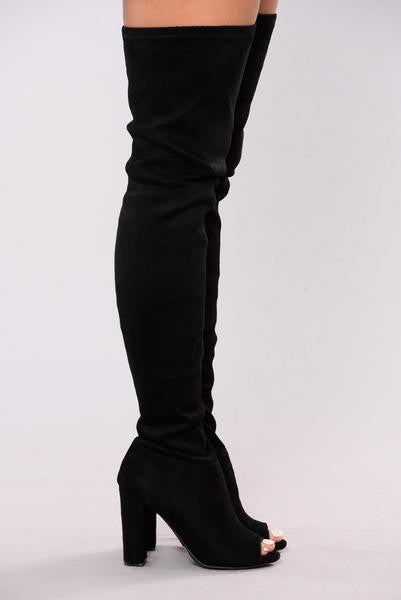 Carmella OTK Boot - Black