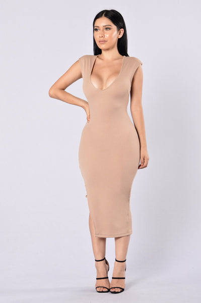 No Mercy Dress - Taupe